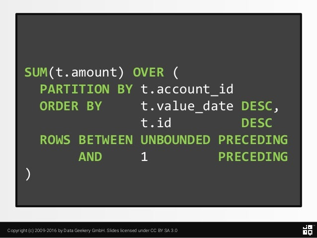10 SQL Tricks that You Didn't Think Were Possible Slide 83