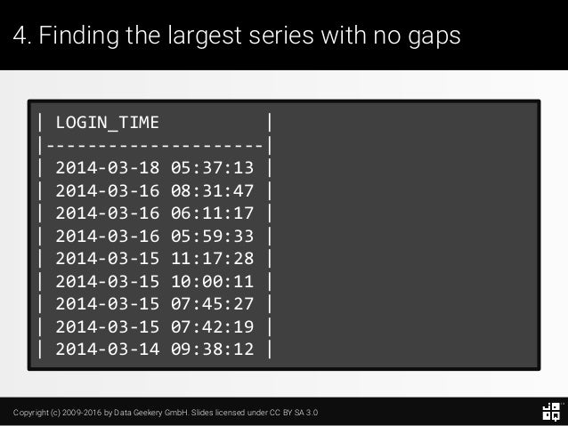 10 SQL Tricks that You Didn't Think Were Possible Slide 92