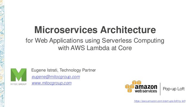 Microservices Architecture for Web Applications using