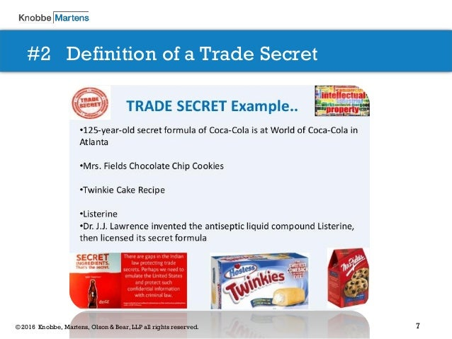 More definitions of Trade Secrets