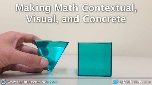 Making Math Contextual, Visual, and Concrete @MathletePearcewww.tapintoteenminds.com