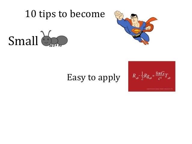 10tipstobecome Small Easytoapply