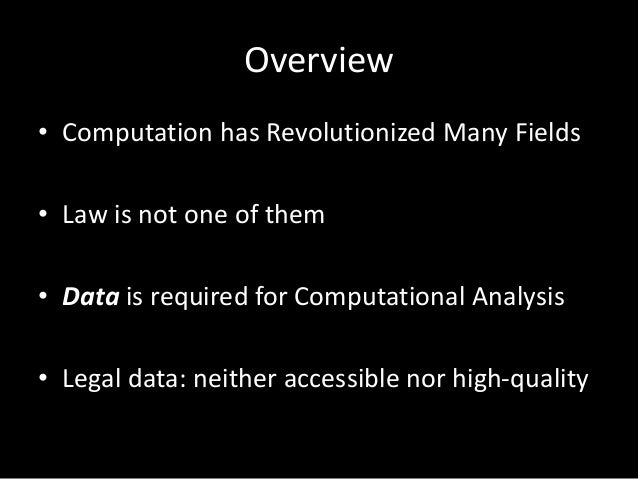 Open Legal Data Workshop at Stanford Slide 2