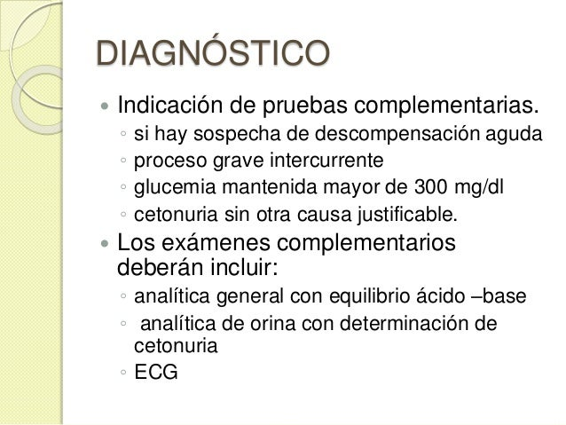 TRATAMIENTO Pauta de actuación en urgencias  OBJETIVO GLUCEMICO AL ALTA : glucemia menor o igual a 250 mg / dl.  Hidrata...