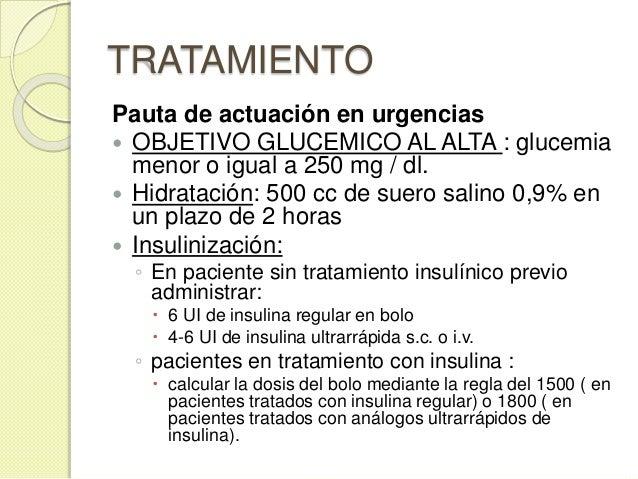 Actitud final al alta  DM conocida ◦ se debe optimizar su tratamiento previo ◦ iniciar insulinización si el paciente esta...