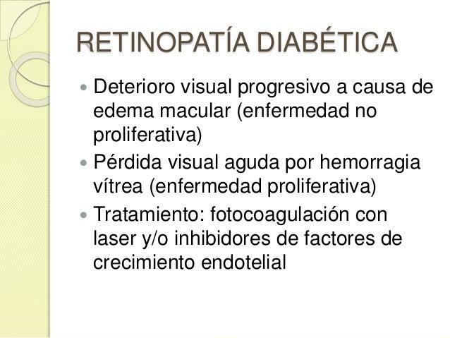 NEFROPATÍA  Estadíos: ◦ Hiperfiltración con aumento del aclaramiento de creatinina ◦ Microalbuminuria intermitente /situa...