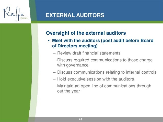 role of auditors directors in A global debate on preparing accountants for finance leadership the governing body (ie, board of directors), chief unlike the role of auditors and assurance.