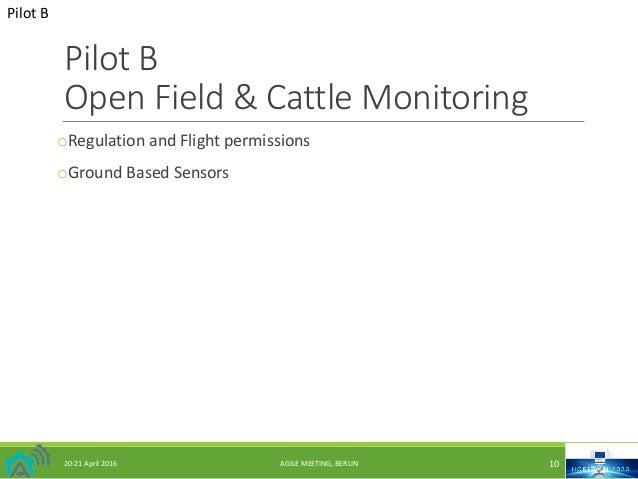 PilotB OpenField&CattleMonitoring oRegulationandFlightpermissions oGroundBasedSensors PilotB 20-21April2016 A...