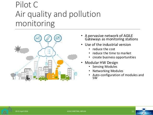PilotC Airqualityandpollution monitoring 20-21April2016 AGILEMEETING,BERLIN 11 • ApervasivenetworkofAGILE G...