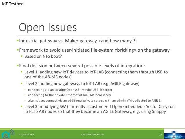 OpenIssues §Industrialgatewayvs.Makergateway(andhowmany?) §Frameworktoavoid user-initiated file-system«bricki...