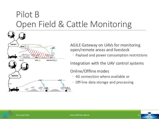 20-21April2016 AGILEMEETING,BERLIN 9 PilotB OpenField&CattleMonitoring AGILEGatewayonUAVsformonitoring open...