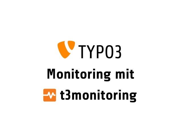 Monitoring mit t3monitoring
