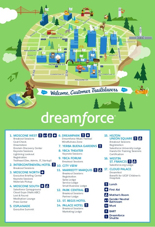 The Official Dreamforce '16 Campus Map on