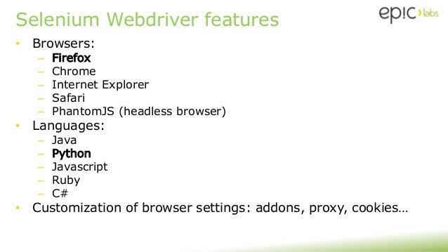 2016 09-09 - Selenium Webdriver - Fundamentals + Hands-on!