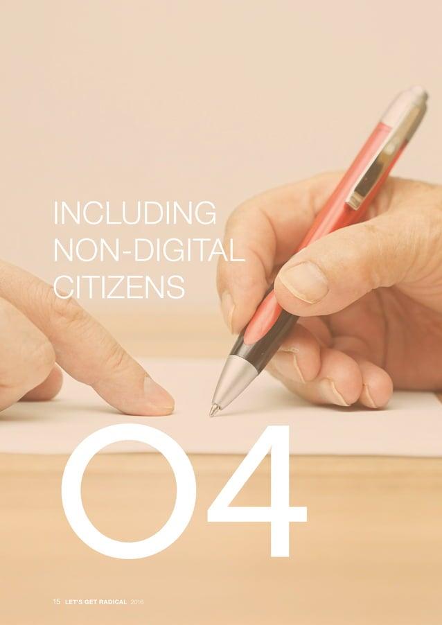 · INCLUDING NON-DIGITAL CITIZENS O415 LET'S GET RADICAL 2016