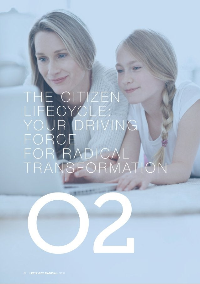 · THE CITIZEN LIFECYCLE: YOUR DRIVING FORCE FOR R ADICAL TR ANSFORMATION O28 LET'S GET RADICAL 2016