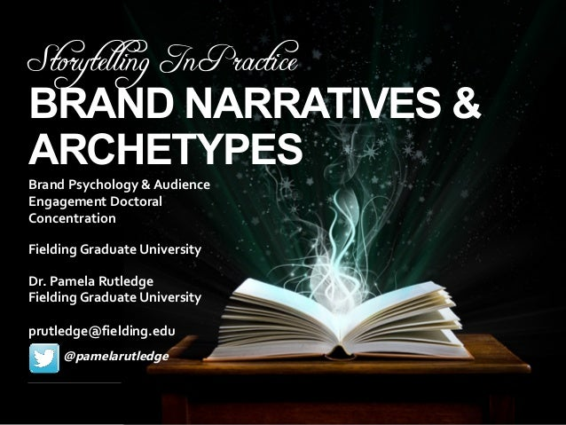 Storytelling In Practice BRAND NARRATIVES & ARCHETYPES Brand Psychology & Audience Engagement Doctoral Concentration Fie...