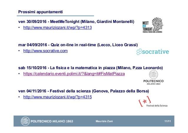 Politecnico Milano Calendario.I Moocs Di Fisica Sperimentale Del Politecnico Di Milano