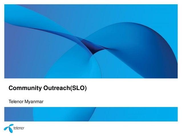 Community Outreach(SLO) Telenor Myanmar