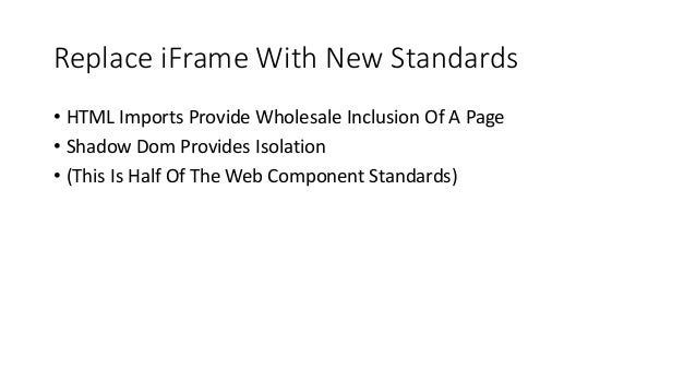 Web Components and Security
