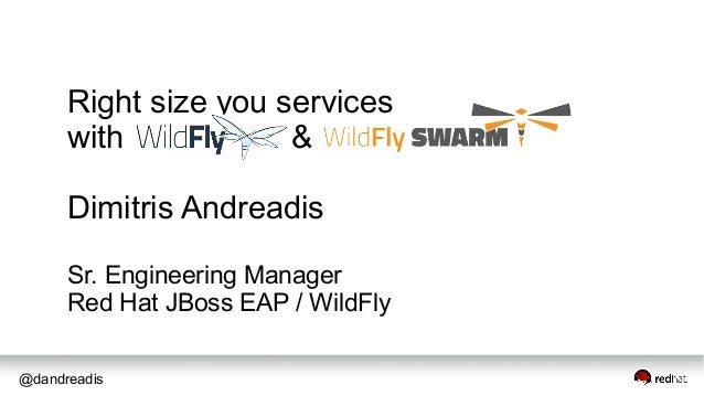 @dandreadis Right size you services with & Dimitris Andreadis Sr. Engineering Manager Red Hat JBoss EAP / WildFly