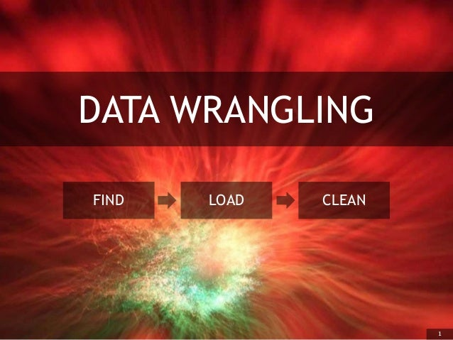 1 DATA WRANGLING FIND LOAD CLEAN