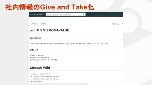 社内情報のGive and Take化 78