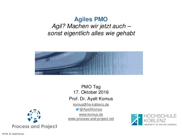 © Prof. Dr. Ayelt Komus Agiles PMO Agil? Machen wir jetzt auch – sonst eigentlich alles wie gehabt PMO Tag 17. Oktober 201...