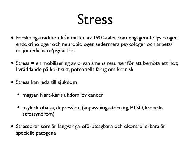 vad kan stress leda till