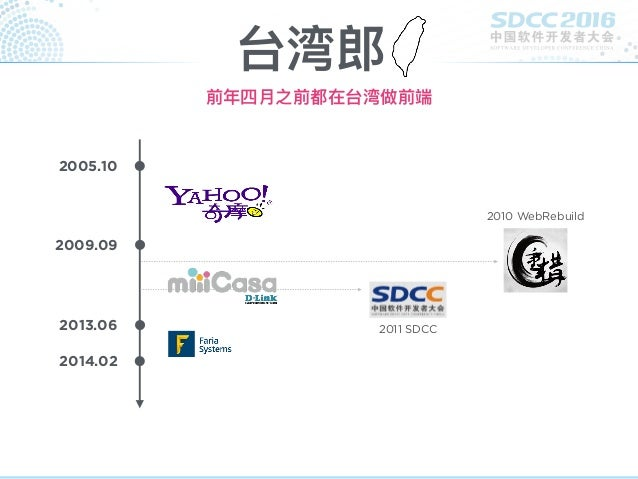 不断归零的前端人生 - 2016 中国软件开发者大会 Slide 2