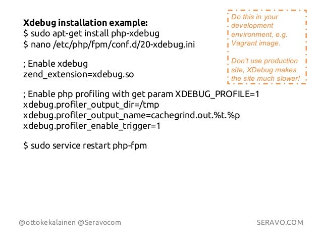 Find WordPress performance bottlenecks with XDebug PHP profiling Slide 3