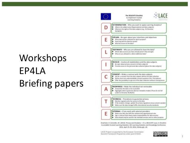 18 Workshops EP4LA Briefing papers