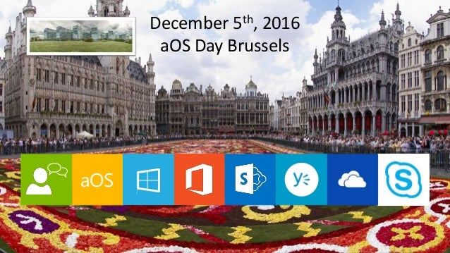 aOS Brussels December 5th 2016 aOS December 5th, 2016 aOS Day Brussels