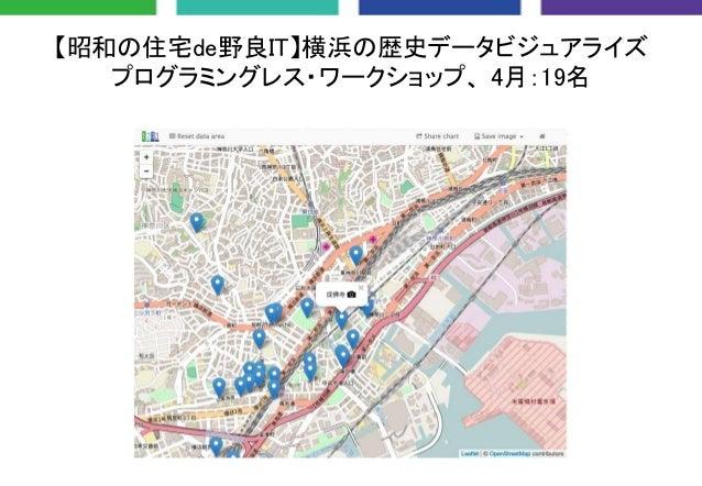 【昭和の住宅de野良IT】横浜の歴史データビジュアライズ プログラミングレス・ワークショップ、 4月:19名