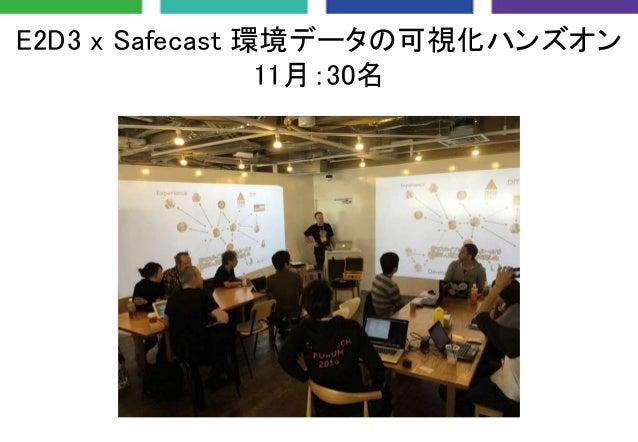 E2D3 x Safecast 環境データの可視化ハンズオン 11月:30名
