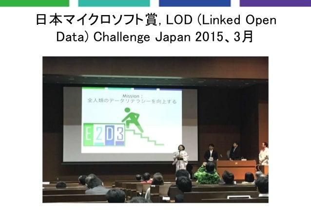 日本マイクロソフト賞, LOD (Linked Open Data) Challenge Japan 2015、3月