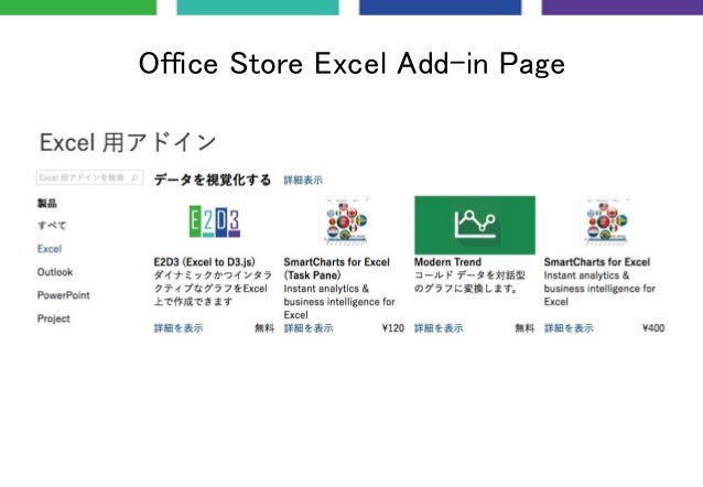 Office Store Excel Add-in Page