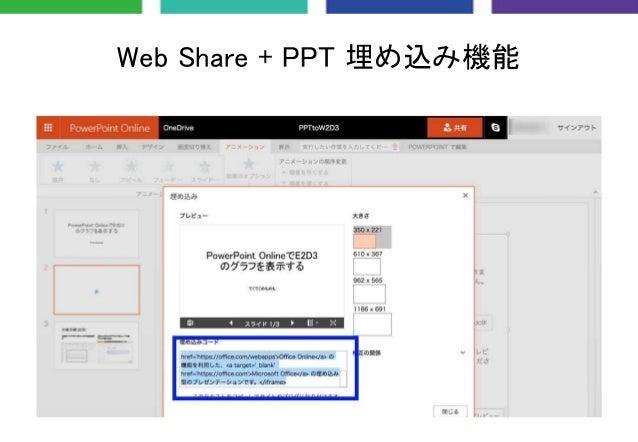 Web Share + PPT 埋め込み機能