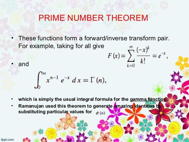 Srinivasa Ramanujan Theorems