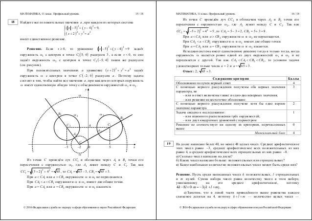 решебник к сборнику экзаменационных материалов за 11 класс