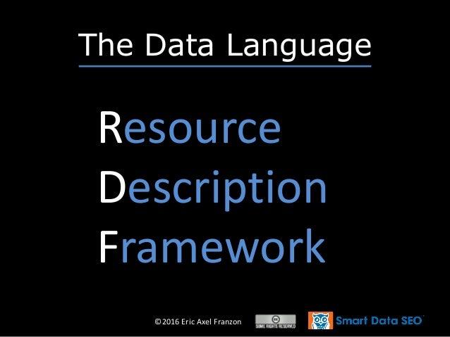 ©2016 Eric Axel Franzon The Data Language Resource Description Framework