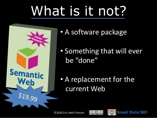 """©2016 Eric Axel Franzon What is it not? • A software package • Something that will ever be """"done"""" • A replacement for the ..."""