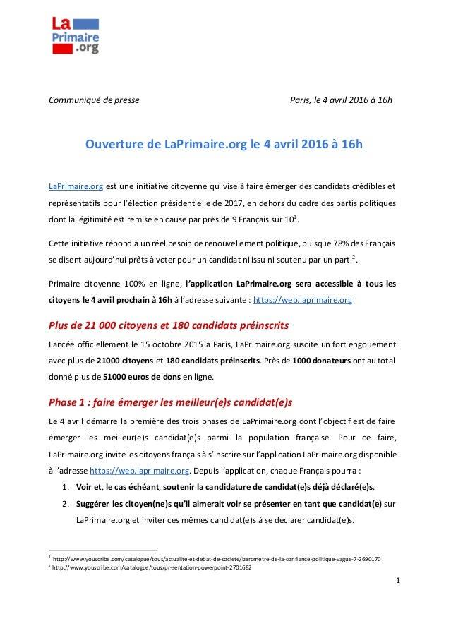 CommuniquédepresseParis,le4avril2016à16h...