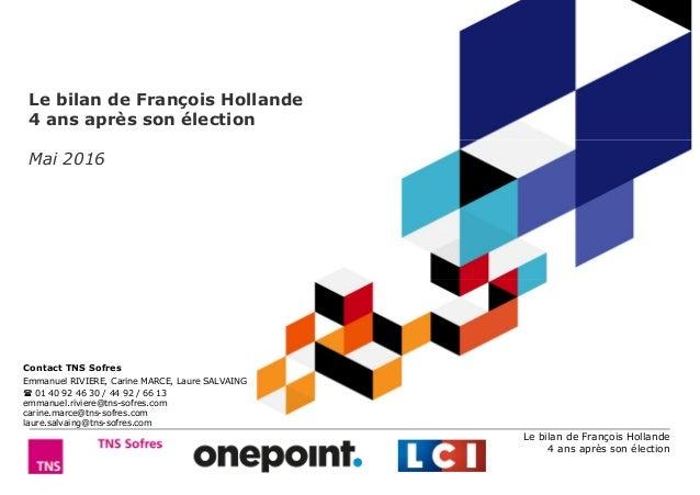 Le bilan de François Hollande 4 ans après son élection Le bilan de François Hollande 4 ans après son élection Mai 2016 Con...