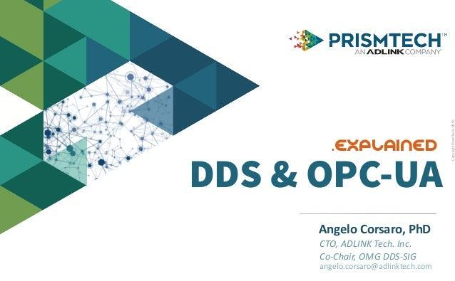 CopyrightPrismTech,2016 AngeloCorsaro,PhD CTO,ADLINKTech.Inc. Co-Chair,OMGDDS-SIG angelo.corsaro@adlinktech.com D...