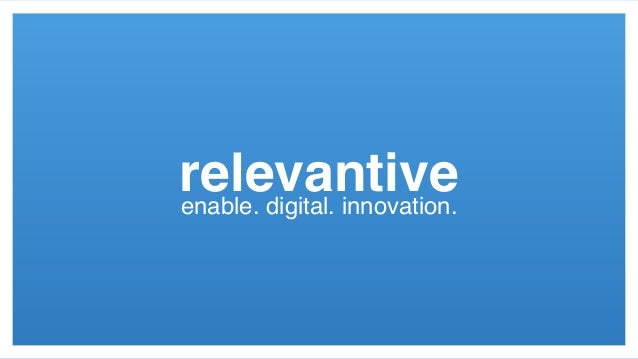 relevantiveenable. digital. innovation.