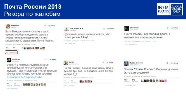 Почта России 2013 Рекорд по жалобам