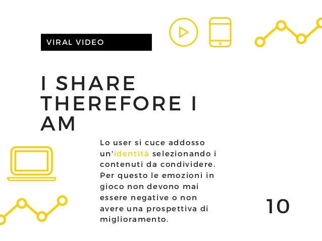 I SHARE THEREFORE I AM VIRAL VIDEO 10 Lo user si cuce addosso un'identità selezionando i contenuti da condividere. Per que...