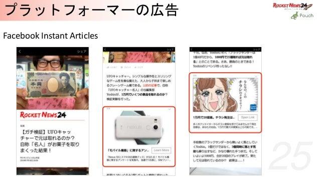 25 プラットフォーマーの広告 Facebook Instant Articles