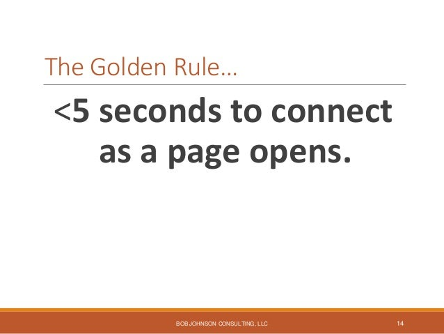 Most important website design goal… Quick identification of the path to top tasks. BOB JOHNSON CONSULTING, LLC 15